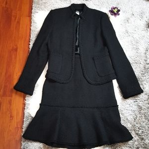 J. Crew 2 PC Set Blazer/Skirt Black